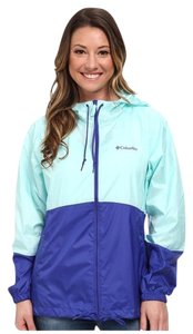 Columbia Columbia Water Resistant Colorblock Blue Windbreaker Jacket S NEW