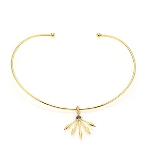 PAMELA LOVE Pamela Love Spiked Lolite Gold Choker Necklace