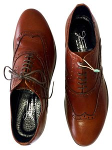 FRANCESCONI Oxfords Lace Up Brogues Wing Tip Brown Flats