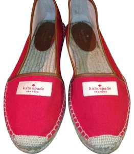 Kate Spade Canvas Espadrille Red Flats