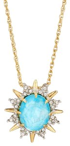 Alexis Bittar ALEXIS BITTAR Spiked Crystal Gold Turquoise Pendant Necklace