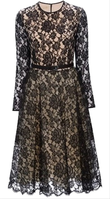 Preload https://img-static.tradesy.com/item/19854629/michael-kors-black-nude-chantilly-long-night-out-dress-size-4-s-0-7-650-650.jpg