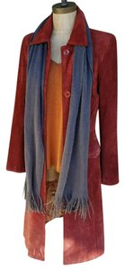 John Carlisle #vintage #suede #boho #duster #rust Trench Coat