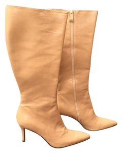Ann Taylor Leather Stiletto light tan Boots