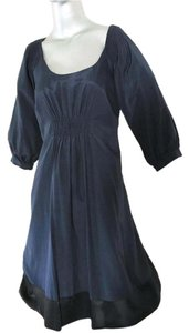 Laundry by Design Segal Blue Silk Mini Dress
