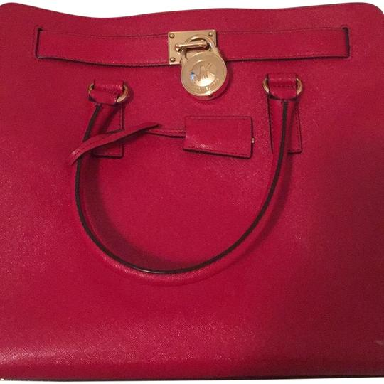 Michael Kors Purse Hamilton Tote in Red Image 0