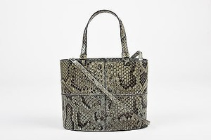 Tod's Tods Blue Gray Python Mini Tote in Gray, Black