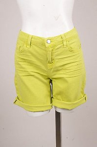 J Brand Lime Whiskered Cuffed Shorts Green