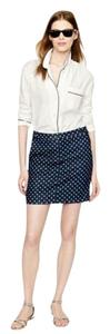 J.Crew Denim Mini Mini Skirt Blue