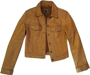 Gap Vintage Mustard Leather Jacket