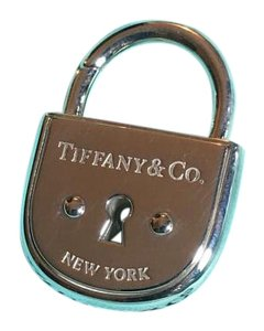 Tiffany & Co. Silver Large Arc Lock Padlock Pendant Charm
