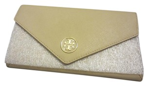 Tory Burch Wristlet in beige