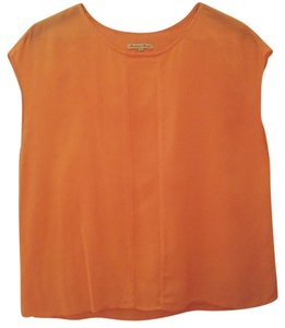 Madewell Sheer Top Orange