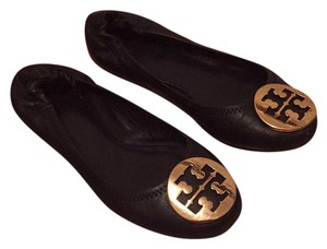 Tory Burch Navy/Gold Flats