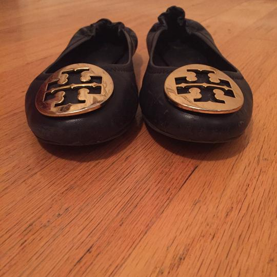 Tory Burch Navy/Gold Flats Image 1