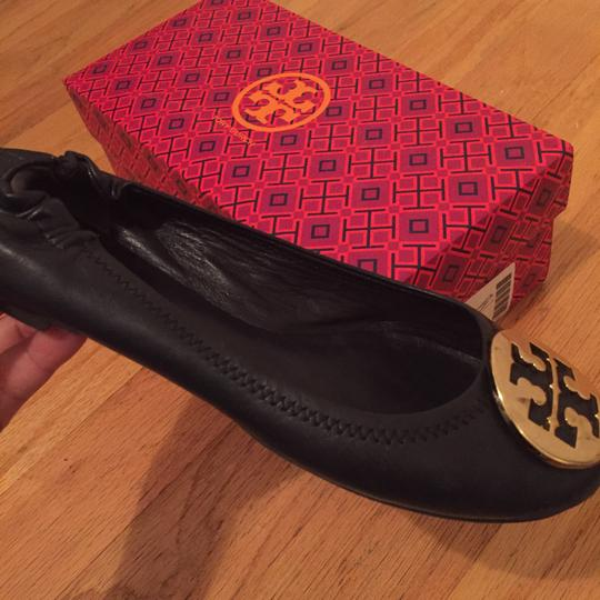 Tory Burch Navy/Gold Flats Image 6