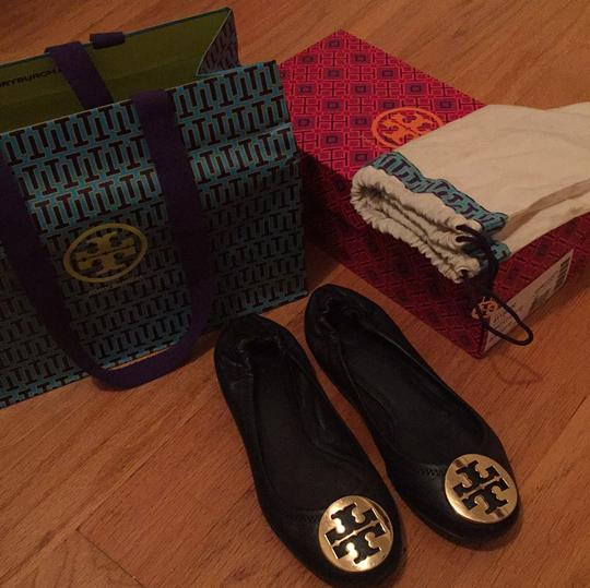 Tory Burch Navy/Gold Flats Image 8