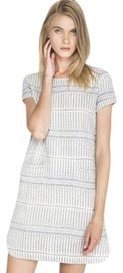 d.RA short dress Blue and white Jacquard Striped Short Sleeves on Tradesy