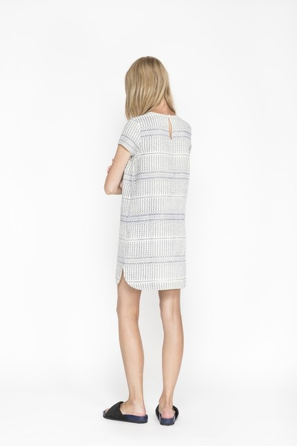 d.RA short dress Blue and white Jacquard Striped Short Sleeves on Tradesy Image 1
