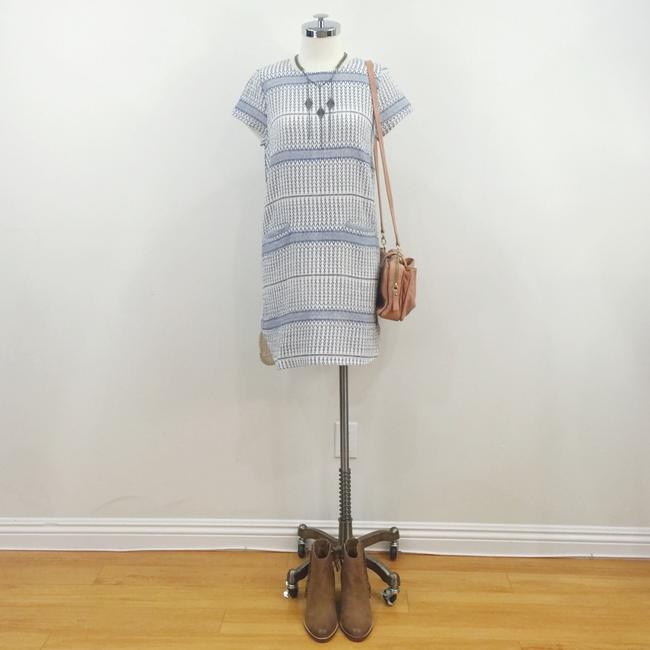 d.RA short dress Blue and white Jacquard Striped Short Sleeves on Tradesy Image 2