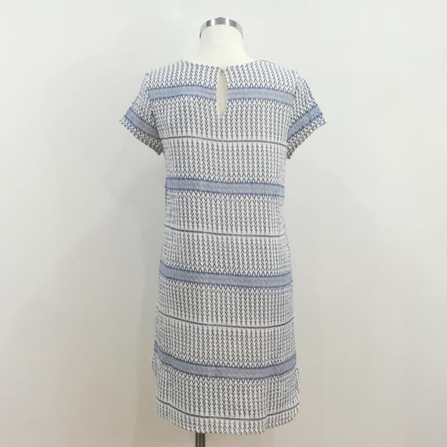 d.RA short dress Blue and white Jacquard Striped Short Sleeves on Tradesy Image 3