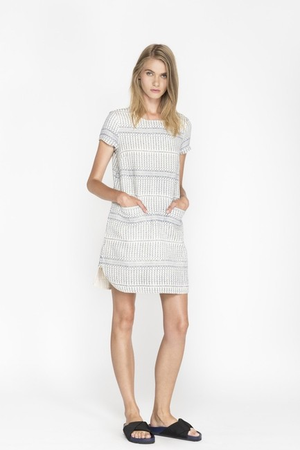 d.RA short dress Blue and white Jacquard Striped Short Sleeves on Tradesy Image 5