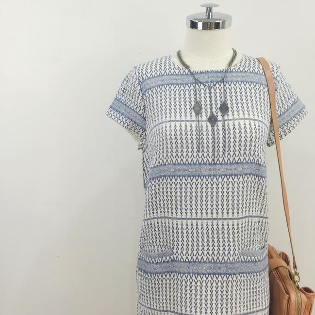 d.RA short dress Blue and white Jacquard Striped Short Sleeves on Tradesy Image 9
