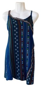 Carnasal Sleeveless Bead Colorful Boho Chevron Top blue, green, white, red