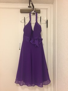 Alfred Angelo Viola Polyester Formal Bridesmaid/Mob Dress Size 8 (M)
