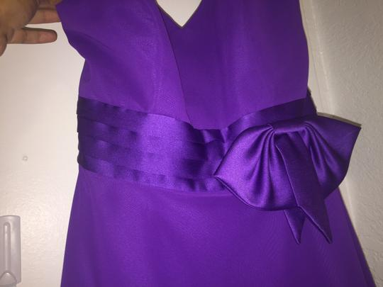 Alfred Angelo Viola Polyester Formal Bridesmaid/Mob Dress Size 8 (M) Image 2