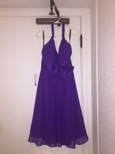 Alfred Angelo Viola Polyester Formal Bridesmaid/Mob Dress Size 8 (M) Image 3