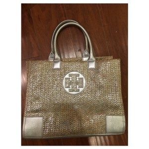 Tory Burch Tote in Natural/Silver