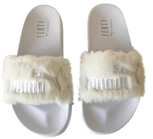 Puma Rihanna Fenty Fur White Sandals