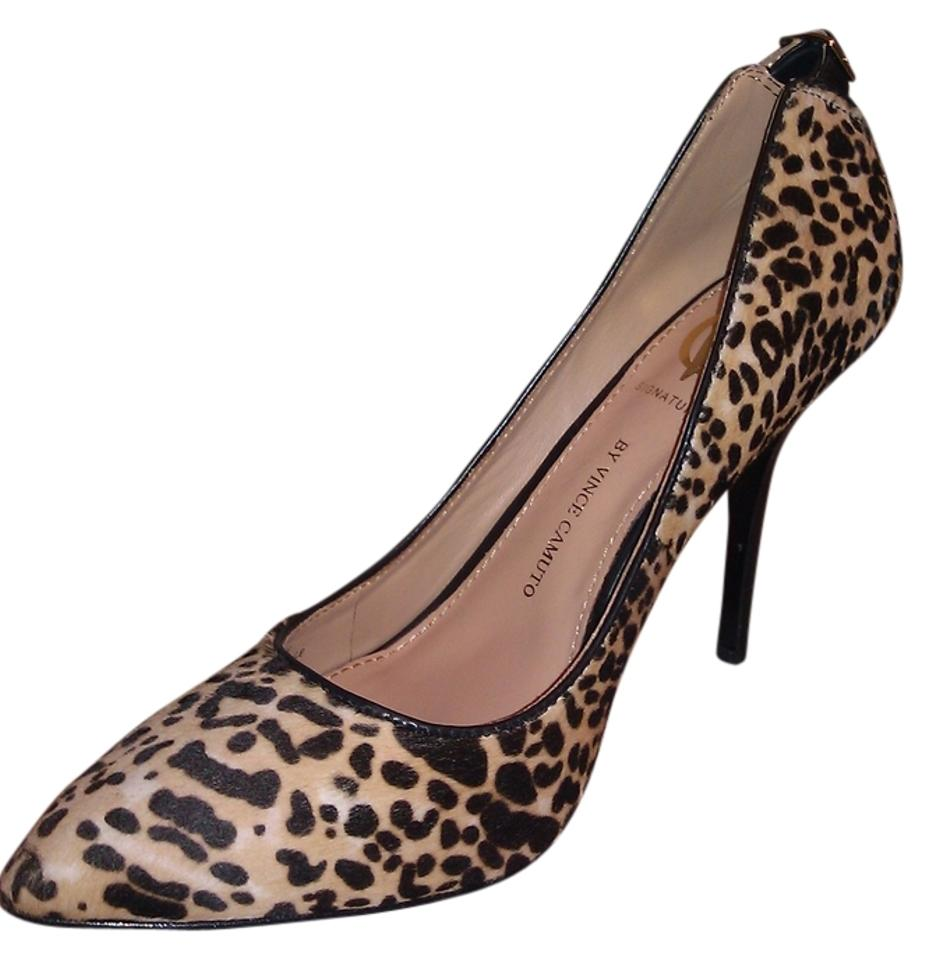 f86aa503a3f6 Vince Camuto Leopard Print Signature New Calf Hair Pumps Size US 7 ...