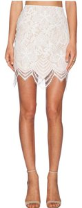 For Love & Lemons Mini Skirt White