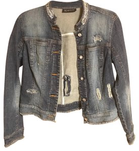 INC International Concepts Dark Blue Womens Jean Jacket