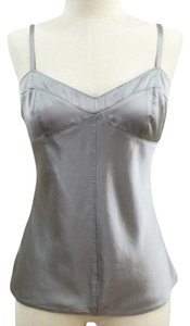 Express Fitted Silk Top Silver