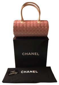Chanel Leather Satchel in Dusty Pink