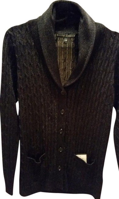 Preload https://img-static.tradesy.com/item/19855769/ralph-lauren-black-label-metallic-fiber-cardigan-sweater-0-2-650-650.jpg