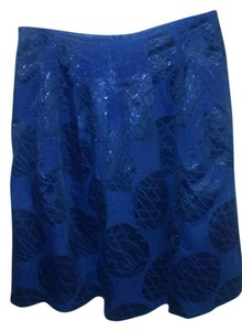 Vince Camuto Skirt Dark Navy and Metallic