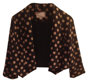 Forever 21 Cascading Open Front Kimono Crop Flash Sale Black Tan Polka Dots Blazer