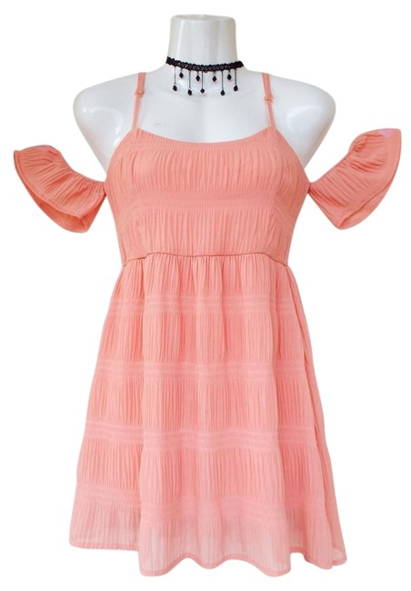 Preload https://img-static.tradesy.com/item/19855815/love-culture-coral-peach-flowy-stretchy-cold-shoulder-tunic-blouse-size-4-s-0-1-650-650.jpg