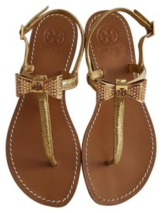 Tory Burch Thong Gold Sandals