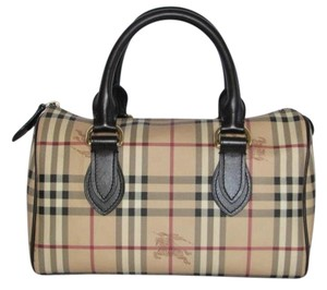 Burberry Made In Italy Pvc Canvas Satchel in Brown