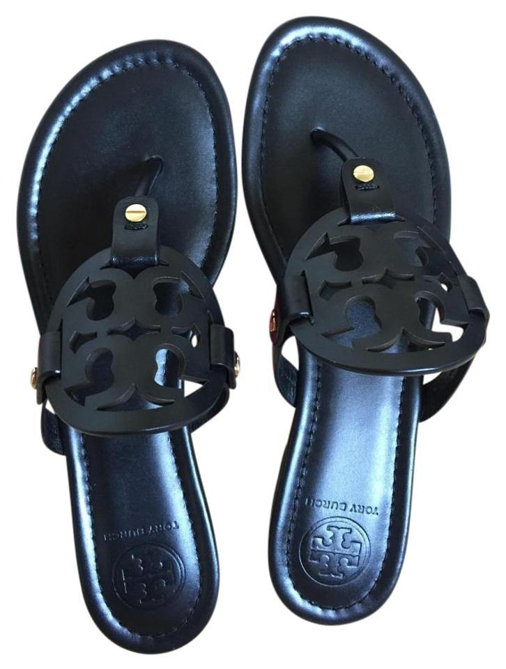 Tory Black Burch Black Tory Miller Flat 8.5m Sandals bd255c