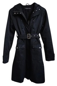 Marc New York Fur Trench Winter Raincoat Trench Coat
