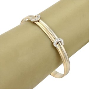 Cartier 18k Two Tone Gold Diamonds Expandable Bangle