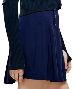 Free People Mini Skirt Navy
