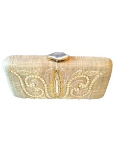 Tommy Bahama Hard Shell Natural Clutch