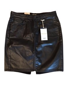 Big Star Leather Faux Skirt Black